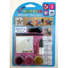 16 Piece Girl's Glitter Tattoo Set