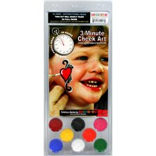 Face Paint and 56 Page How To Booklet, 3 Minute Cheek Art, 8 Face Paint Colors