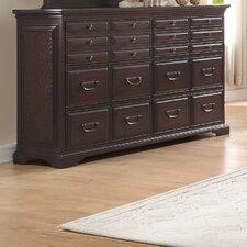 Cranfills 20 Drawer Dresser with Mirror
