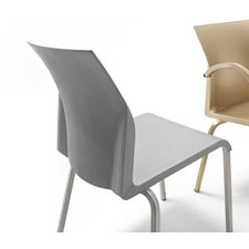 Iron Armless Office Stacking Chair