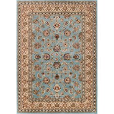 Barclay Sarouk Traditional Blue Area Rug
