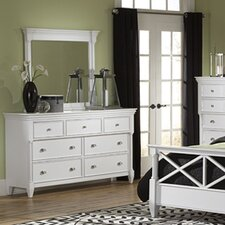 Kasey 7 Drawer Dresser with Mirror