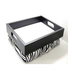 Lap Desk Laptop Cushion Tray Zebra with Handle