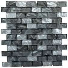 Upscale Designs Porcelain, Natural Stone, Metal, Glass, Ceramic Mosaic Tile in Shades of Metallic Gray