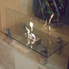 Fiero Freestanding Bio Ethanol Fuel Fireplace
