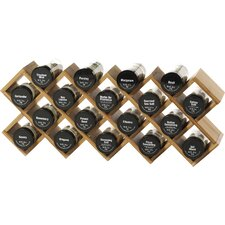 Criss Cross 18 Piece Spice Rack Set