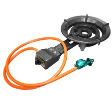 Propane Burner with Regulator and Hose
