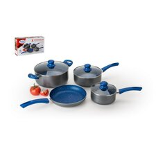 7 Piece Aluminum and Marlble Non-Stick Cookware Set
