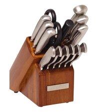 15 Piece Hollow Handle Knife Block Set