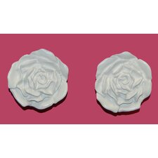 Cabbage Rose Tieback Wall Décor (Set of 2)