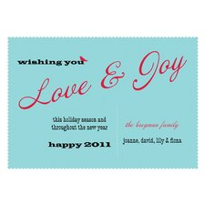 Personalized Love and Joy Holiday Card (Set of 100)