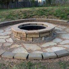 Random Stone Fire Pit