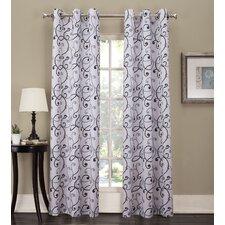 Samia Grommet Woven Print Curtain Panel