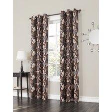 Kevin Grommet Woven Print Single Curtain Panel