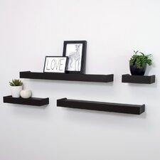 Vertigo 4 Piece Floating Wall Shelf Set