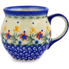 Polish Pottery 7 oz. Stoneware Bubble Mug
