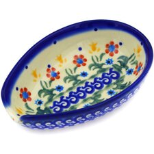 "Polish Pottery 5"" Spoon Rest"