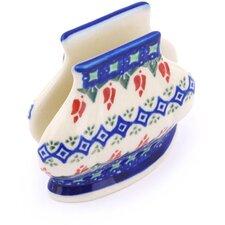 Polish Pottery Stoneware Napkin Holder