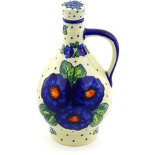 Polish Pottery 34 oz. Stoneware Decorative Bottle