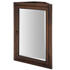"Malago 24"" Corner Mirrored Medicine Cabinet - Distressed Maple"