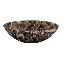 Round Marble Vessel Bathroom Sink