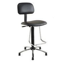 Mid-Back Drafting Chair with Footrest