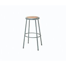 Height Adjustable Steel Hardboard Seat Stool