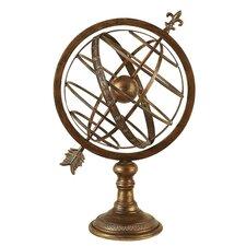 Engraved Metal Armillary Nautical Celestial Sphere Globe