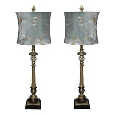 "Urban 29"" H Table Lamp with Oval Shade (Set of 2)"