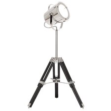 """Industrial Adjustable Studio Tripod 33"""" H Table Lamp with Drum Shade"""