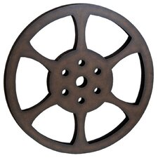 "Hollywood 32"" Metal Film Reel Home Movie Theater Accent Art Wall Decor"