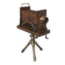 Vintage Tabletop Wooden Camera