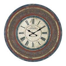 "Urban Oversized 34"" Cafe De La Tour Paris Hand Carved Wall Clock"