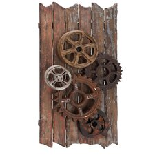 Urban Handcrafted Movie Reels and Gears Wood Art Wall Decor