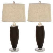 """Urban Designs The Whitman Classic 35"""" H Table Lamp with Empire Shade (Set of 2)"""