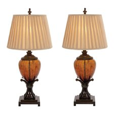 "Urban Designs Contemporary 35"" H Table Lamp with Empire Shade (Set of 2)"