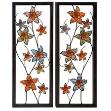 Urban Designs 2 Piece Flower Ornamental Pop Out Wall Décor