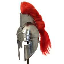 Antique Replica Corinthian Red Plume Armor Helmet