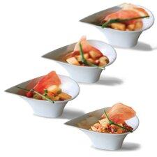 """Sandra Venditti 12"""" Porcelain Appetizer Plate (Set of 4)"""