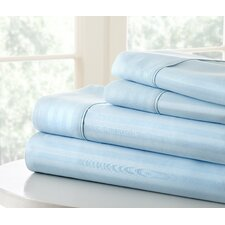 Becky Cameron 1800 Thread Count Dobby Striped Sheet Set