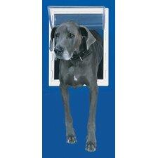 Small White Aluminum Pet Door