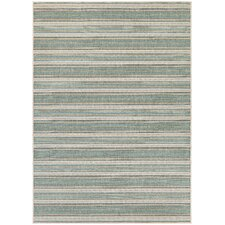 Monaco Marbella Blue Mist and Ivory Indoor/Outdoor Area Rug