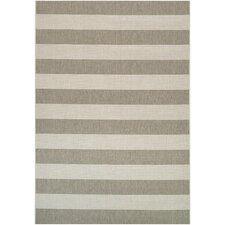 Afuera Yacht Club Tan & Ivory Indoor/Outdoor Area Rug