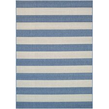 Afuera Yacht Club Cornflower & Ivory Indoor/Outdoor Area Rug