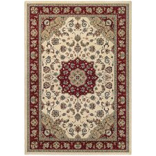Traditions Namur Ivory/Ruby Area Rug