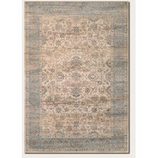 Zahara Embellished Blossom Light Blue/Oatmeal Area rug