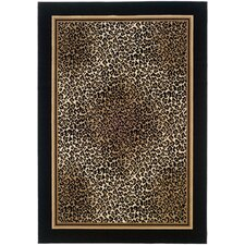 Everest Black Leopard Area Rug