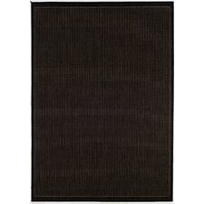 Recife Saddle Stitch Black Cocoa Indoor/Outdoor Area Rug