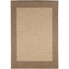 Recife Checkered Field Natural Cocoa Indoor/Outdoor Area Rug