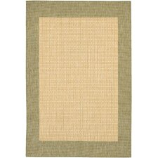 Recife Checkered Field Natural Indoor/Outdoor Area Rug